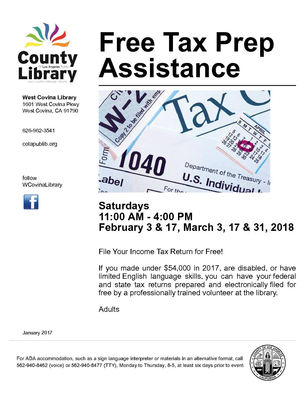 Free Tax Prep Istance