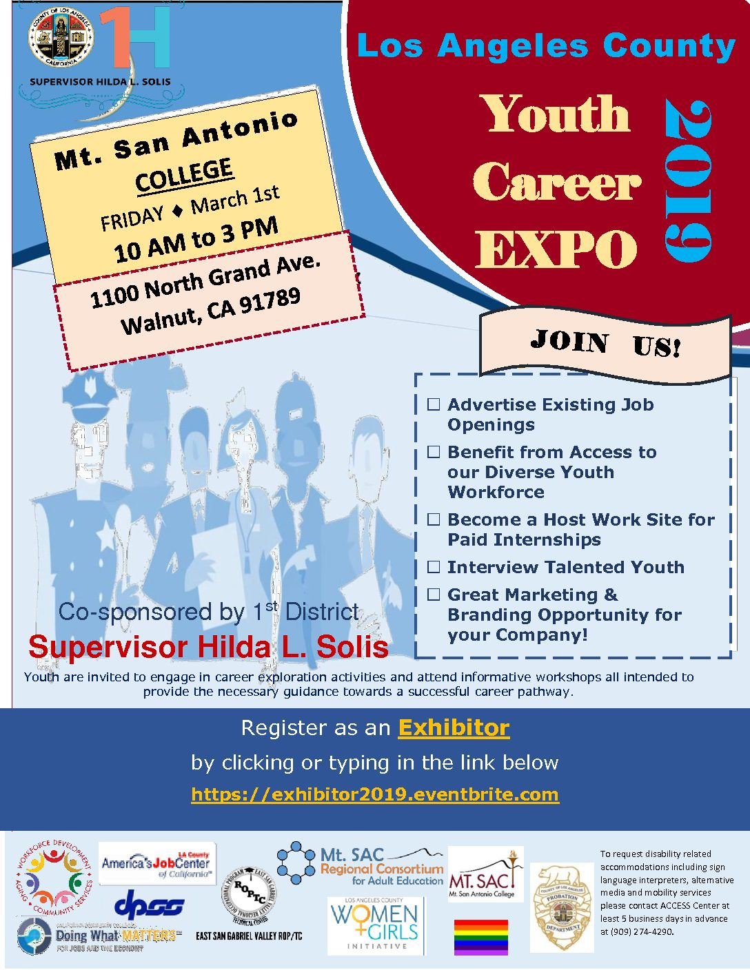Los Angeles County Youth Career Expo 2019 – Supervisor Hilda