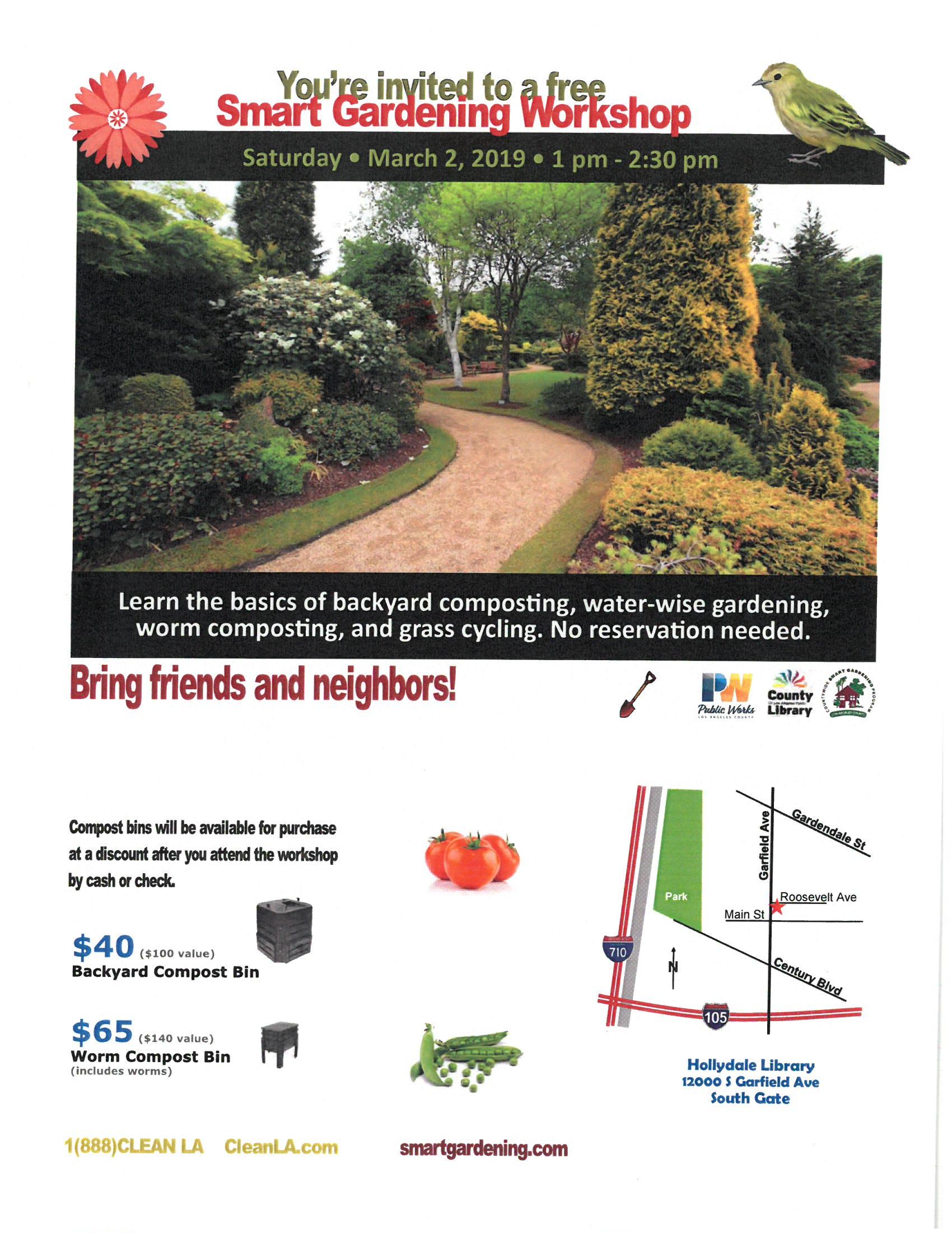 Smart Gardening Workshop – Supervisor Hilda L Solis